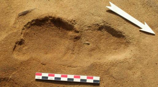 Dette er fotavtrykket til en neandertaler