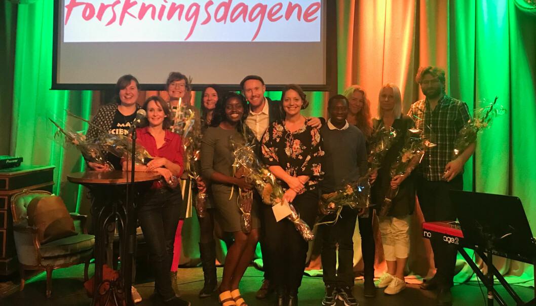 Forskerkamp er Innlandets svar på Forsker Grand Prix hvor ti doktorgradsstipendiater konkurrerer om å bli den beste formidleren (Foto: Erlend Moe)