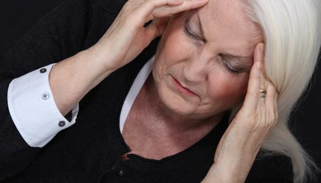 Middelaldrende med migrene, har doblet risiko for å få Parkinsons sykdom senere i livet.   (Illustrasjonsfoto: Colourbox)