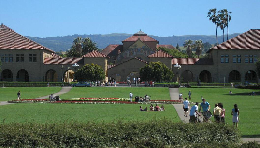 Stanford University er ett av universitetene i USA med toleranse for seksuelle minoriteter, ifølge en artikkel i tidsskriftet Nature. Akademiske miljøer kan være fristeder for kulturelt mangfold, og utviklingen mot større åpenhet går fort i Vesten og raskest i USA, selv om det fortsatt er utfordringer, særlig i de mest religiøse delene av landet. (Foto: Jawed Karim, Wikimedia Commons, Creative Commons Attribution-Share Alike 3.0 Unported Licence)