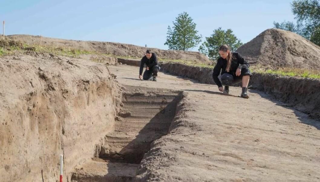Vallø Borgring er femte, men ikke nødvendigvis siste, skudd på stammen av ringborger fra vikingtiden i Danmark, mener forskerne.  (Foto: Danmarks Borgcenter)