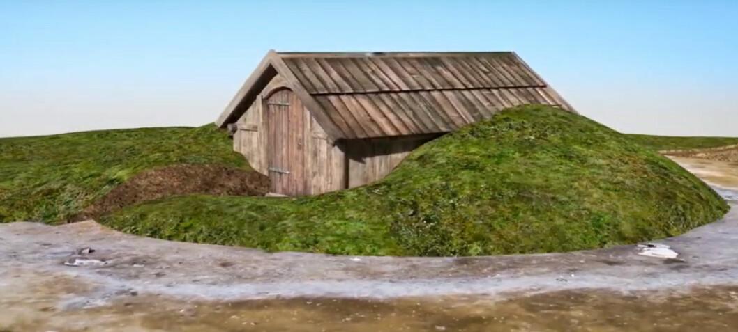 Fant rester av dødehus fra vikingtida