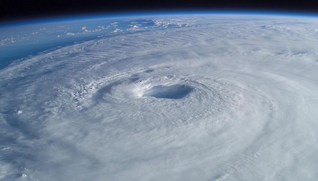 Orkanen Isabel sett fra den Internasjonale Romstasjonen.  (Foto: NASA)