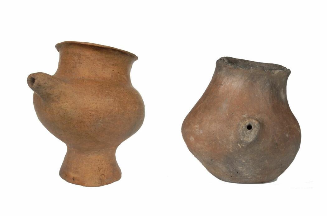 Dette er tåteflasker fra bronsealderen, mener forskere