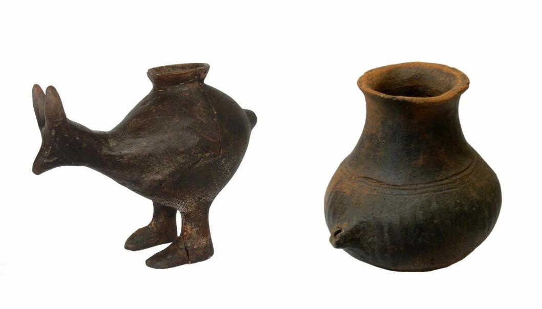 Tutekoppene har ulik form og størrelse. Noen er formet som dyr. Disse koppene er funnet i Østerrike, og er rundt 3000 år gamle