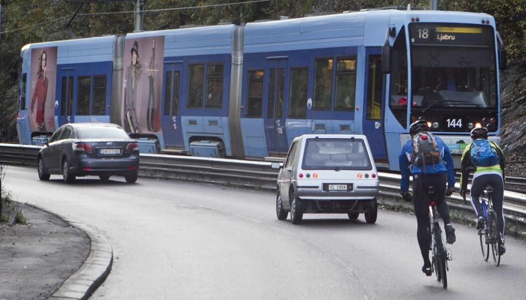 Det er en tydelig sammenheng mellom det å selv være aggressiv i trafikken og å oppleve andre trafikanter som aggressive. (Foto: Heiko Junge, Scanpix)