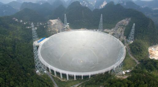 Gigantisk teleskop åpner i Kina