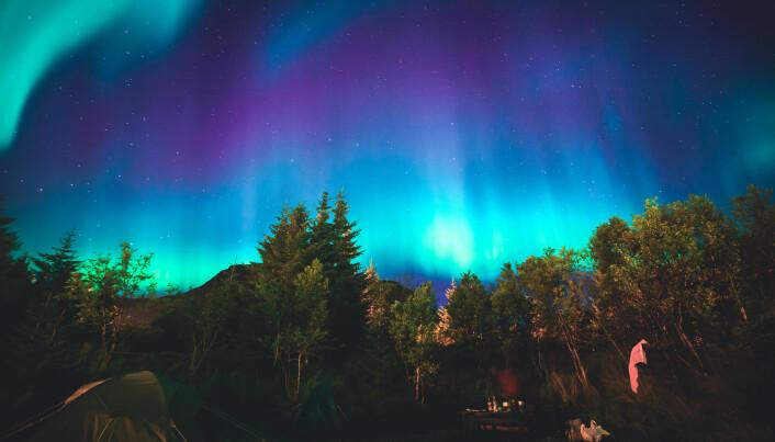 Nordlyset vil flamme langt sør om en kraftig solstorm herjer i atmosfæren. (Foto: Tsuguliev / Shutterstock / NTB scanpix)