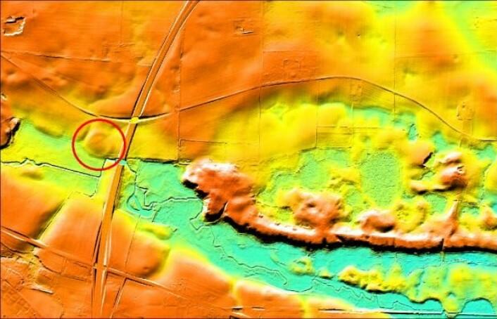 Vallø Borgring ses tydelig på resultatene fra de geofysiske målingene foretatt i 2013 sammen med Helen Goodchild.  (Foto: Danmarks Borgcenter og Helen Goodchild)