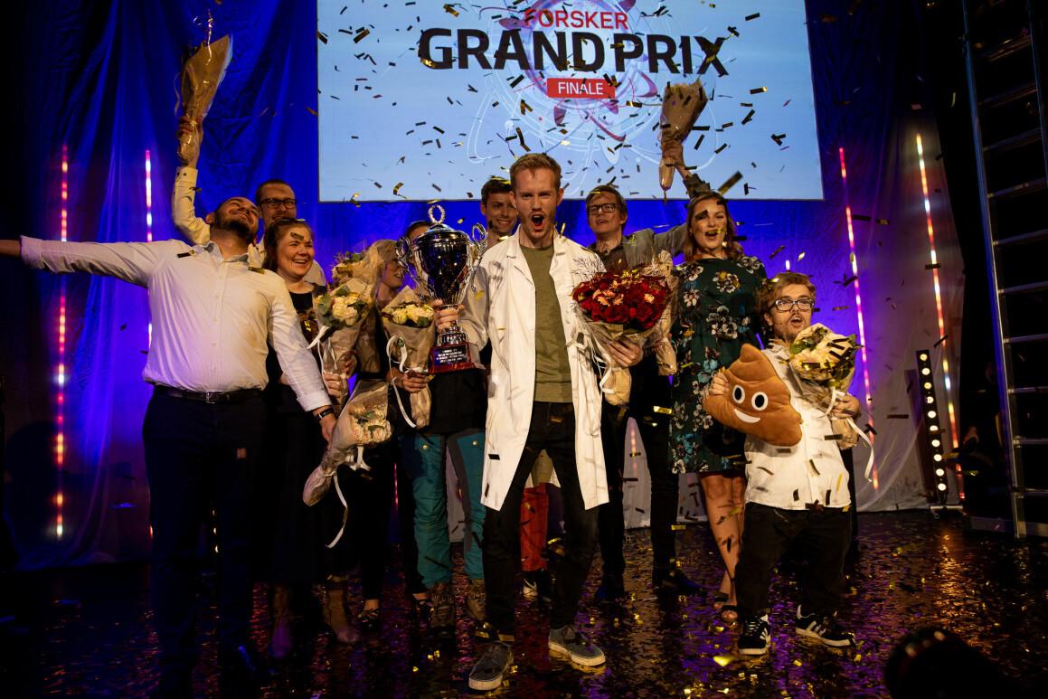 Forsker Grand Prix har vært arrangert i Norge siden 2010. I år vant Daniel Vethe fra NTNU. (Foto: Mari Løvås/UiS)