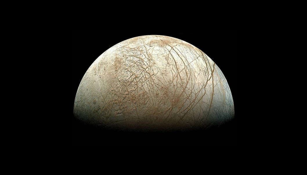 Overflaten på ismånen Europa ligner på jordskorpen