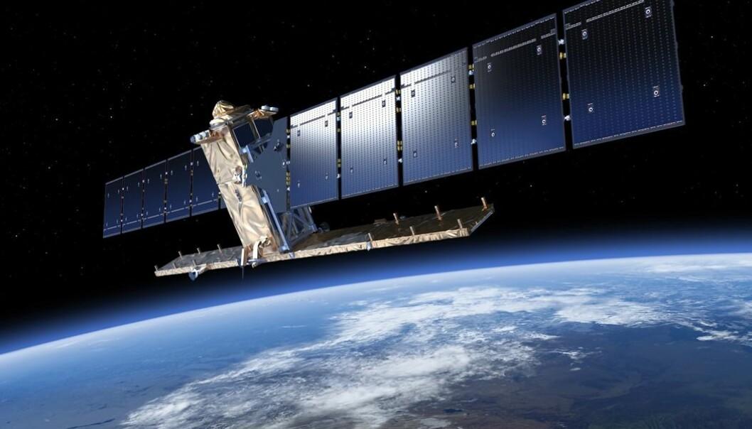 Sentinel-1 er den første i familien av flere Copernicus satellitter. (Foto: ESA)