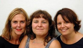 Fra venstre: Margareth Sandvik, Elena Tkachenko og Nina Gram Garmann. (Foto: Kari Aamli)