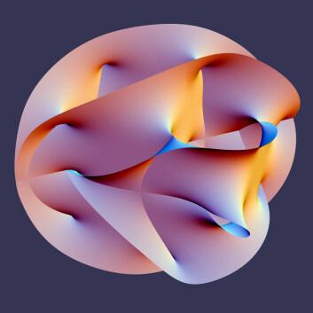 En geometrisk figur som består av et flerdimensjonalt rom projisert ned til en tredimensjonal modell. Slike modeller er en del av strengeteoriene. (Foto: (Illustrasjon: Lunch/Wikimedia Commons/ Creative Commons Attribution-Share Alike 2.5 Generic licence))