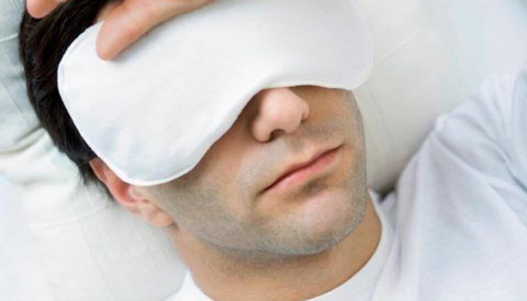 Forskere har funnet mer hjernesvinn hos personer som hadde søvnproblemer. Men de vet ikke om hjernesvinnet skyldes søvnvansker eller omvendt.  (Illustrasjonsfoto: www.colourbox.no)