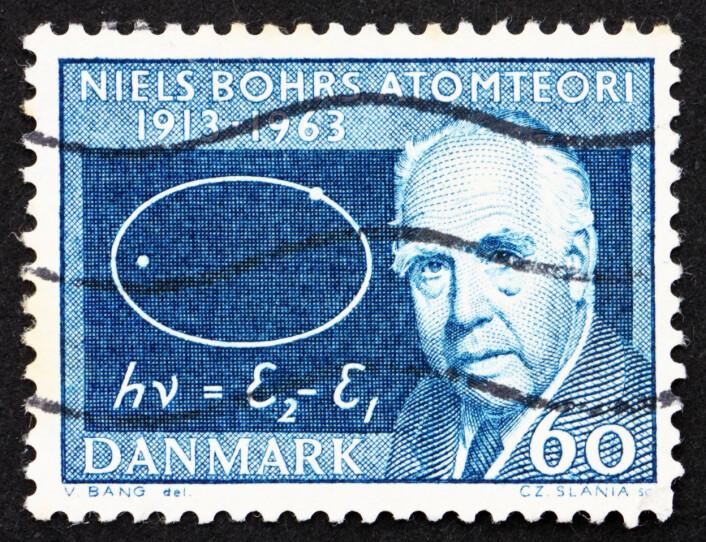 Den danske fysikeren Niels Bohr, her foreviget på et frimerke. (Foto: (Illustrasjon: Microstock))