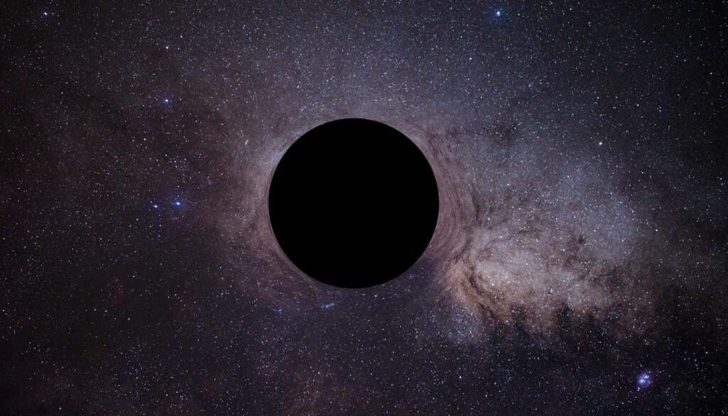 Hvis det er noe der ute som går i bane, langt fra de åtte planetene i solsystemet, så kan det være et sort hull fra universets fødsel, foreslår to forskere. Det vil i så fall være lite, og ikke utgjøre noen trussel. (Illustrasjon: MaIII Themd / Shutterstock / NTB scanpix)