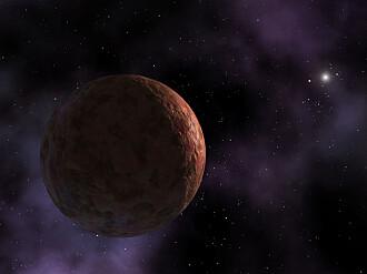 Helt siden Sedna ble oppdaget i 2003, har enkelte forskere spekulert i om dens merkelige bane kan skyldes en Planet X, en niende planet. (Illustrasjon: NASA/JPL-Caltech/R. Hurt (SSC-Caltech))