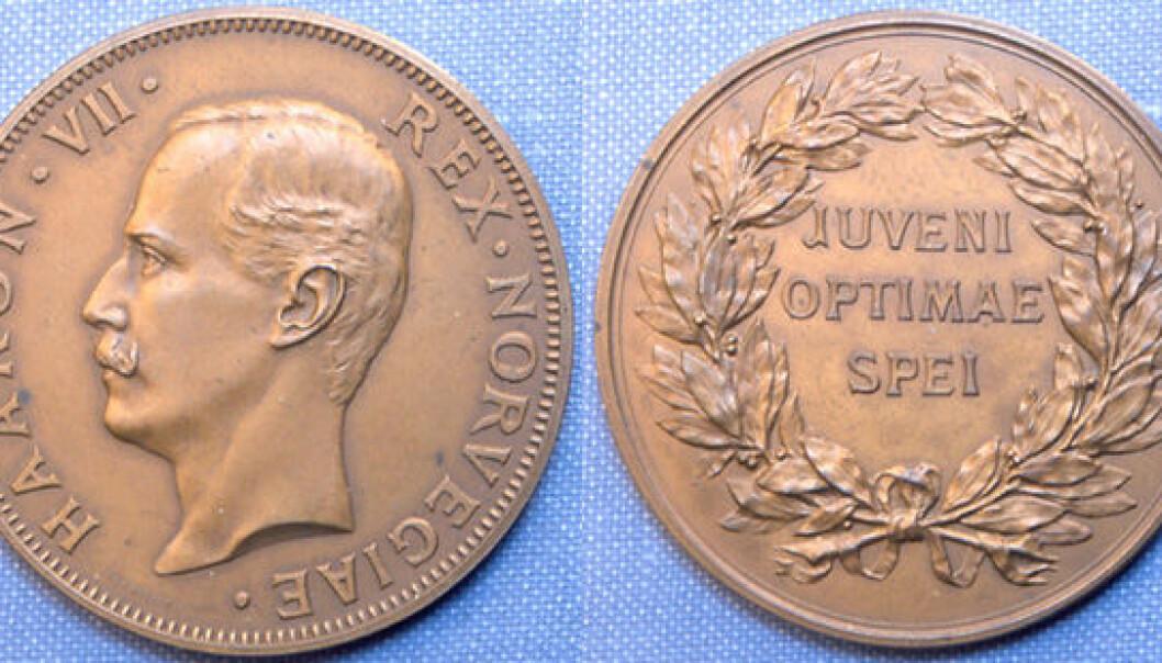 H.M. Kongens gullmedalje. (Foto: Kjetil Kvist)