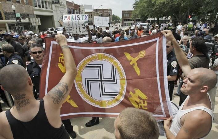 White supremacists er tilhengere av en ideologi om at hvite mennesker er overlegne mennesker av andre hudfarger. (Foto: Scanpix, LM Otero)