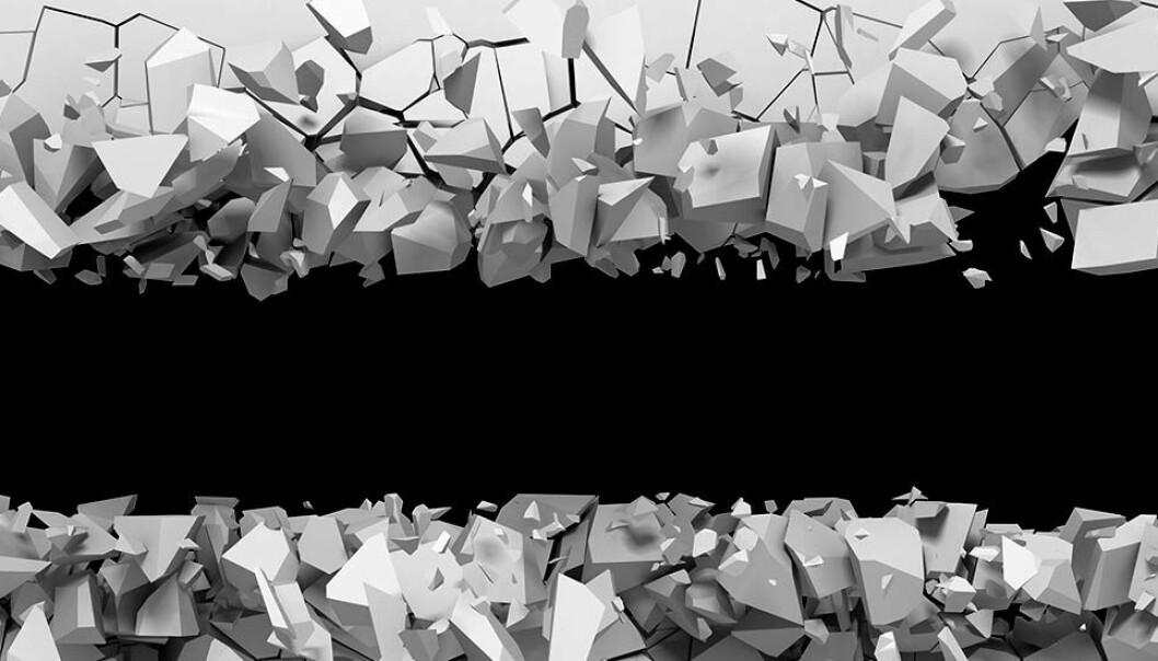 Noen materialer blir sterkere når de utsettes for påkjenninger. Men alt bryter sammen til slutt. Hvorfor er det sånn? Og når gir materialene etter likevel? (Illustrasjon: Shutterstock, NTB Scanpix)