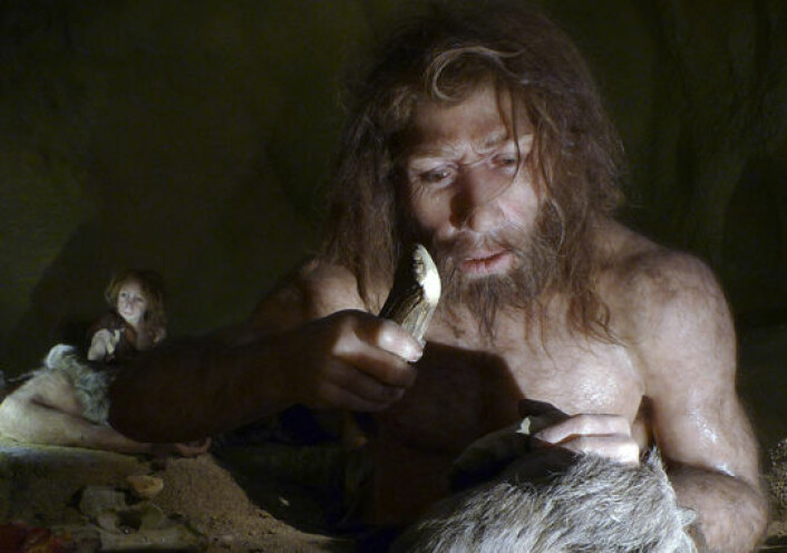 Neandertalere fra en utstilling i Neandertalmuseet i Krapina i Kroatia. (Illustrasjonsfoto: Reuters)