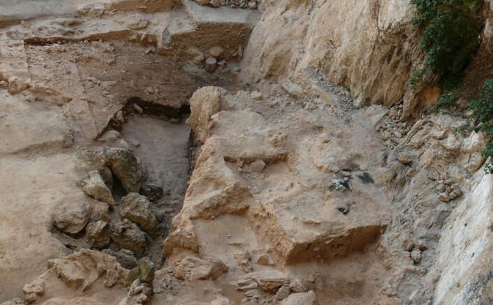Her ser du utgravningsstedet ved El Salt, der den gamle bæsjen ble funnet. (Foto: Ainara Sistiaga)