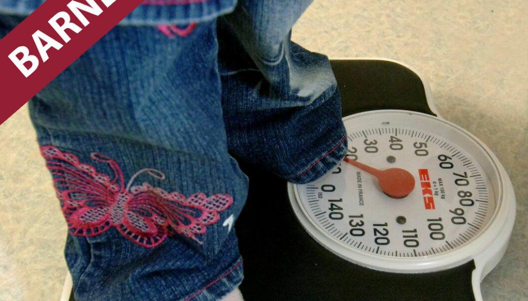Barn som spiser usunt blir tykkere enn før