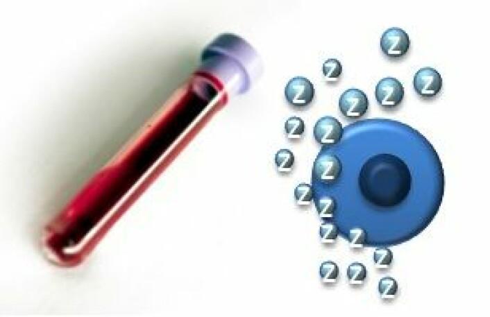 Fra pasienter med endetarmskreft som deltar i OxyTarget-studien, tas det blodprøver for å isolere mikroblærer som er utskilt fra svulstceller. Deretter analyseres spredningssignalene de inneholder, i laboratoriet. (Foto: Kathrine Røe, Ahus.)