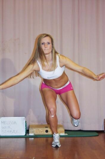 – Det hjelper ikke å være god hvis du er skadet og må sitte på benken, sier elitefotballspiller Melissa Wiik. (Foto: Agnethe Nilstad, NIH)