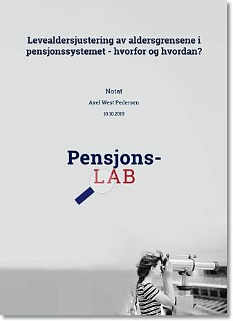 Denne forskningen er en del av PensjonsLAB. Dette er et prosjekt der forskere ved Institutt for samfunnsforskning, Fafo, Frischsenteret og Statistisk sentralbyrå samarbeider om å få fram ny kunnskap om pensjon. Prosjektet er finansiert av Arbeids- og sosialdepartementet fram til 2021.