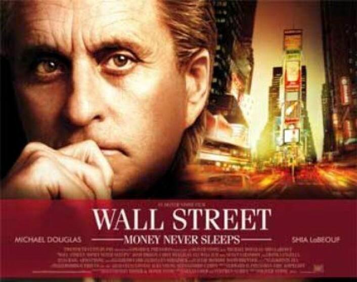 - Greed is good, grådighet er bra, det virker, uttalte Gordon Gekko i Michael Douglas skikkelse i filmen Wall Street. Her fra oppfølgerfilmen. (Foto: (Fox Film))