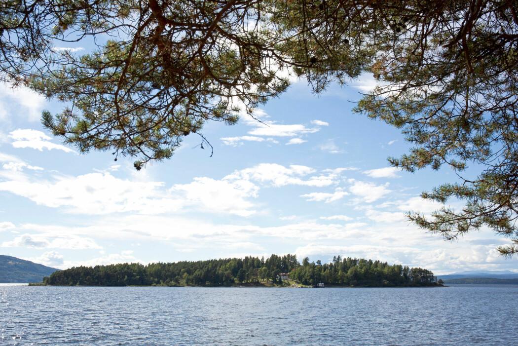 Utøya i Tyrifjorden. (Foto: Espen Bratlie / Samfoto)
