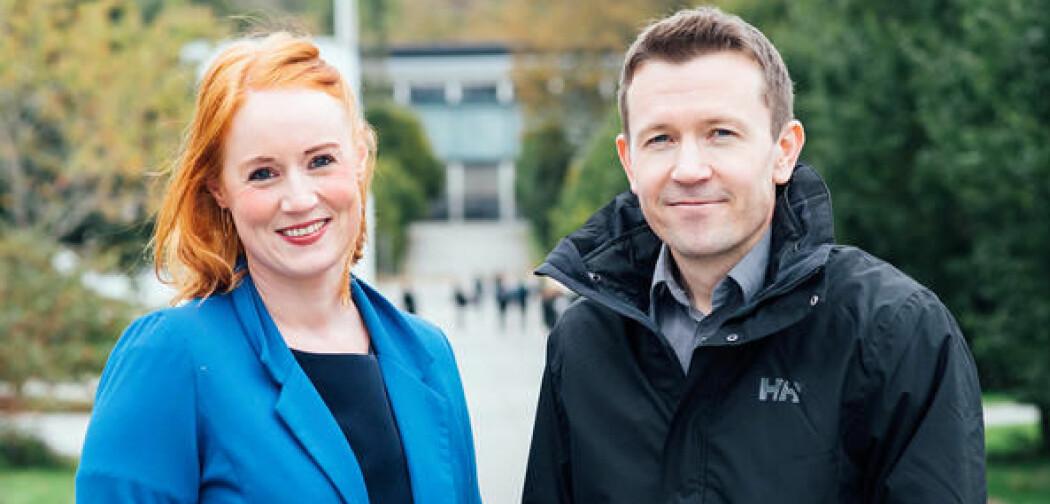 Marte C.W.Solheim og Jørgen Bølstad er nye medlemmar i Akademiet for yngre forskarer. (Foto: Mari Hult)