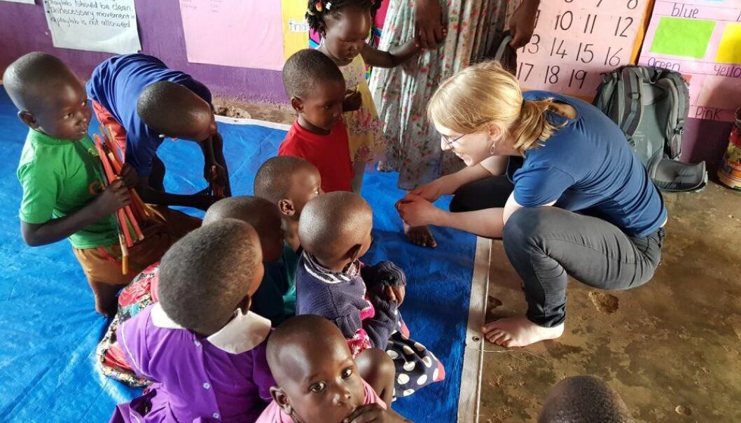 Forskere fra NHH har et prosjekt i Kampala Uganda der de tester ut gratis barnehage etter samme metode som vinnerne av økonomiprisen til minne om Alfred Nobel. (Foto: Kjetil Bjorvatn)