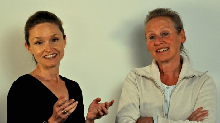 Førsteamanuensis Noëlle Streeton og professor Tine Frøysaker ved Universitetet i Oslo forsker på kirkekunsten vi har fra senmiddelalderen. (Foto: Douwtje van der Meulen)