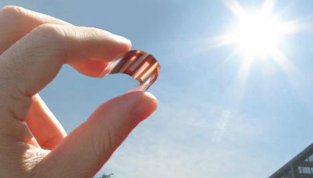 Japanske forskere har utviklet en metode for å sortere organiske materialer for solceller ut fra hvor effektivt de danner elektriske ladninger. (Foto: Yutaka Moritomo/University of Tsukuba)