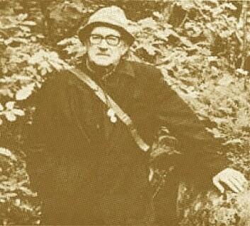 Gunnar Degelius som fant laven på toppen av Galdhøpiggen i 1947, var Sveriges kanskje fremste lichenolog. (Foto: (Foto fra tidsskriftet til British Lichen Society))