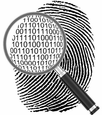 Om det er fingeravtrykk eller ikke, oversettes til 0 eller 1 i dataprogrammet. Dermed går det mye raskere å finne mønster mellom innbruddene, i motsetning til i løpende tekst i tradisjonelle politirapporter.  Foto: Colourbox)