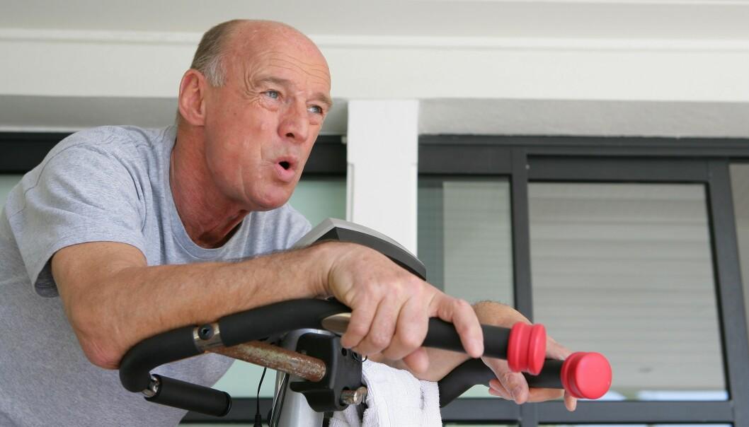 Kanskje du får friskere hjerne som eldre dersom du holder hjertet sunt med trening. (Foto: Colourbox)