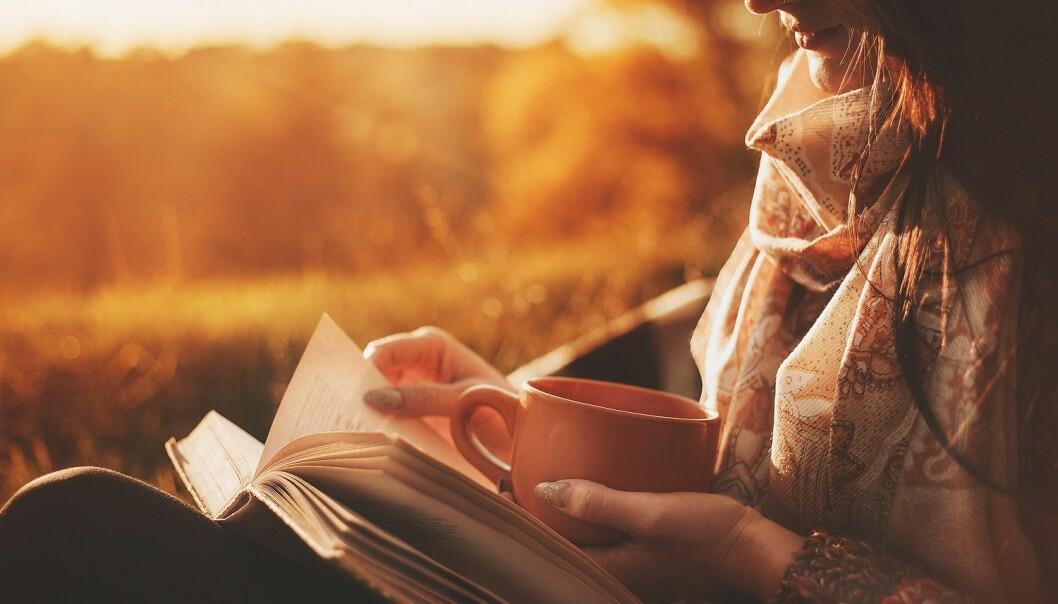 Hausten er for mange lesetid. – Bøkene kan gje oss eit møte med oss sjølve, seier litteraturprofessor. (Illustrasjon: Logvinyuk Yuliia / Shutterstock / NTB scanpix)