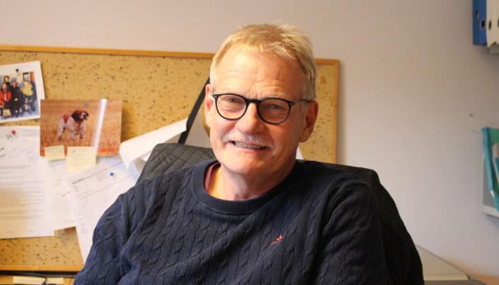 Forsker Øystein Ahlstrøm ved NMBU har husdyrernæring som fagfelt, spesielt hund, katt og pelsdyr. (Foto: Elise Kjørstad)