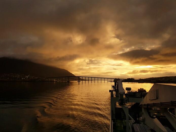 Utseiling fra Tromsø i fint vær. (Foto: MAREANO)