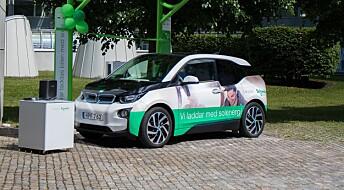– Alle i Tromsø kan kjøre elbil ladet på solenergi