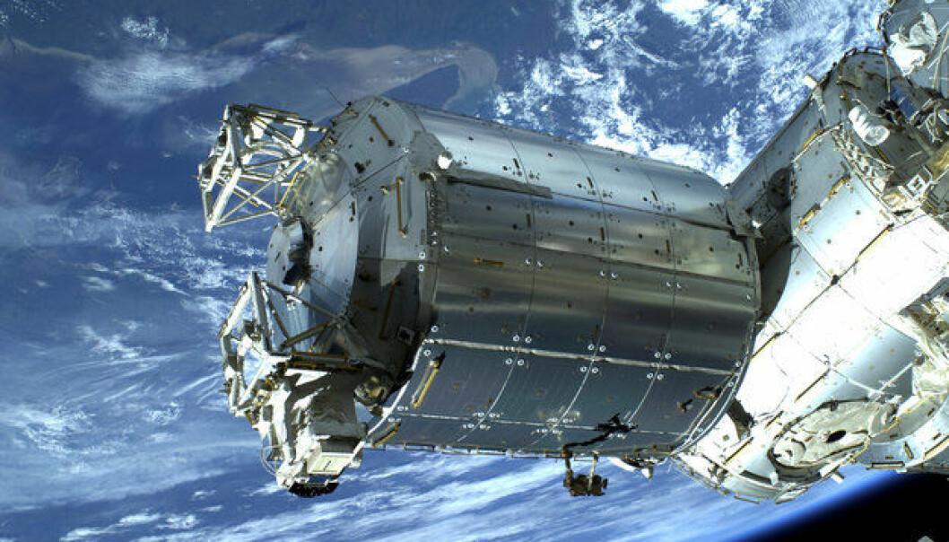 Colombus-modulen på den internasjonale romstasjonen. Her skal ACES-klokkene installeres i 2016. (Foto: ESA)