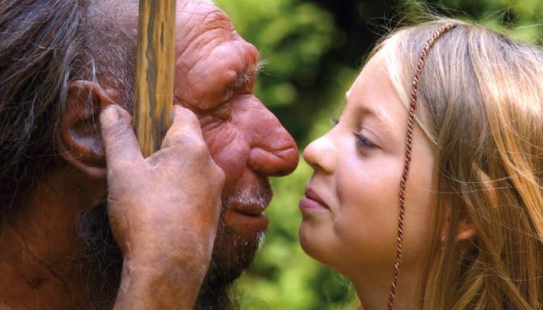 I noen områder kan moderne mennesker og neandertalere ha eksistert side om side i over 5000 år. (Foto: Neanderthal Museum, Mettmann, Tyskland)