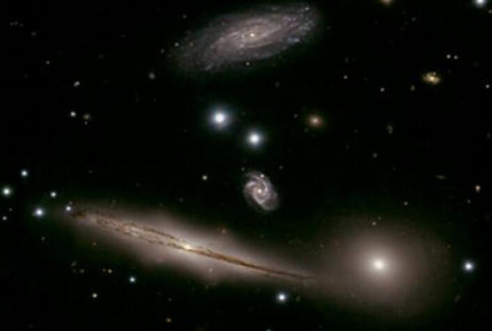 Galaksehopen HCG 87 i stjernebildet Steinbukken. NASA