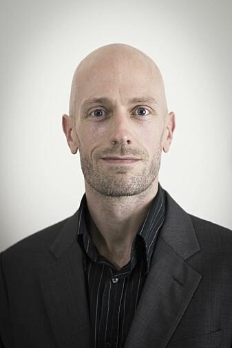 Henrik Skaug Sætra diskuterer prinsipiell dataetikk. (Foto: Høgskolen i Østfold)