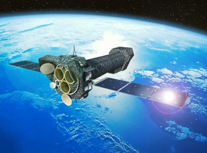 ESAs romteleskop XMM Newton undersøker røntgenstrålingen fra ulike himmellegemer. (Foto: ESA)