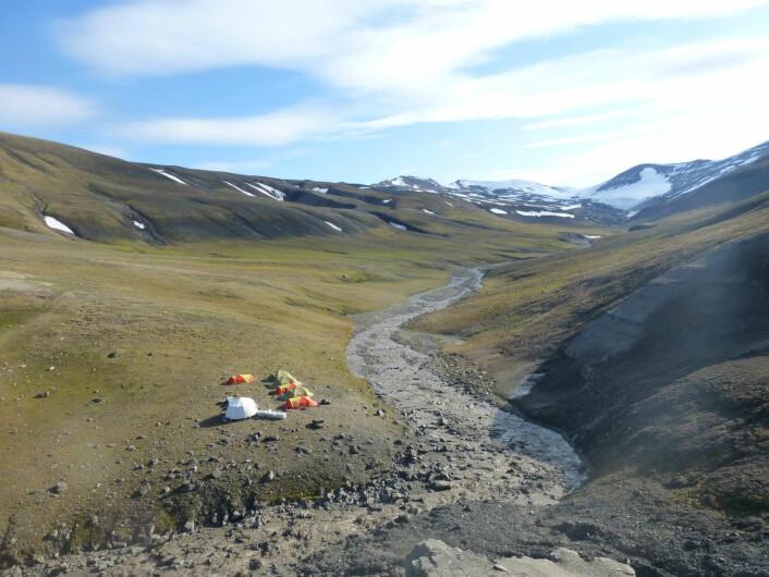 Utsikten fra lokaliteten. (Foto: Aubrey Roberts)